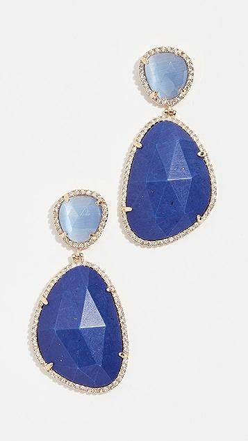 Stella Ruby Blue Evening Earrings
