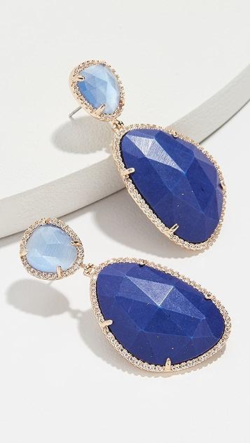 Stella + Ruby Blue Evening Earrings