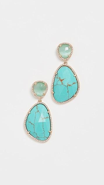 Stella + Ruby Серьги-капли с натуральными камнями