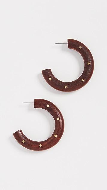 Stella + Ruby 木质圈式耳环