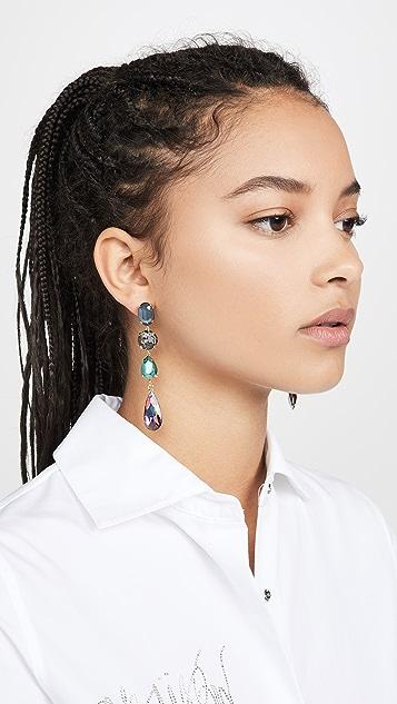 Stella + Ruby Linear Gem Earrings