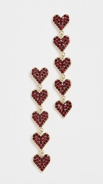Stella + Ruby Серьги в виде сердечек с кристаллами