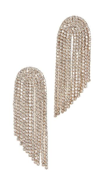 Stella + Ruby Crystal Fringe Earrings