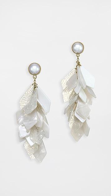 Stella + Ruby 白色石饰耳环