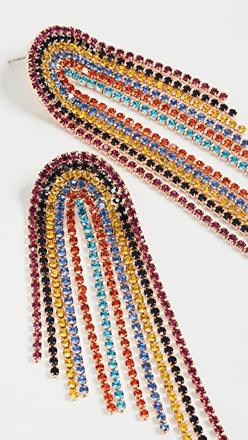 Stella + Ruby Rainbow Crystal Earrings
