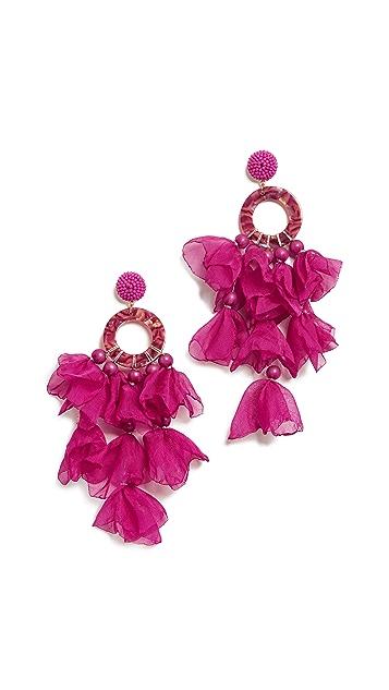 Stella + Ruby Fuchsia Oversized Earrings