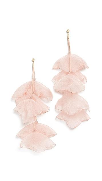 Stella + Ruby Chiffon Flower Earrings