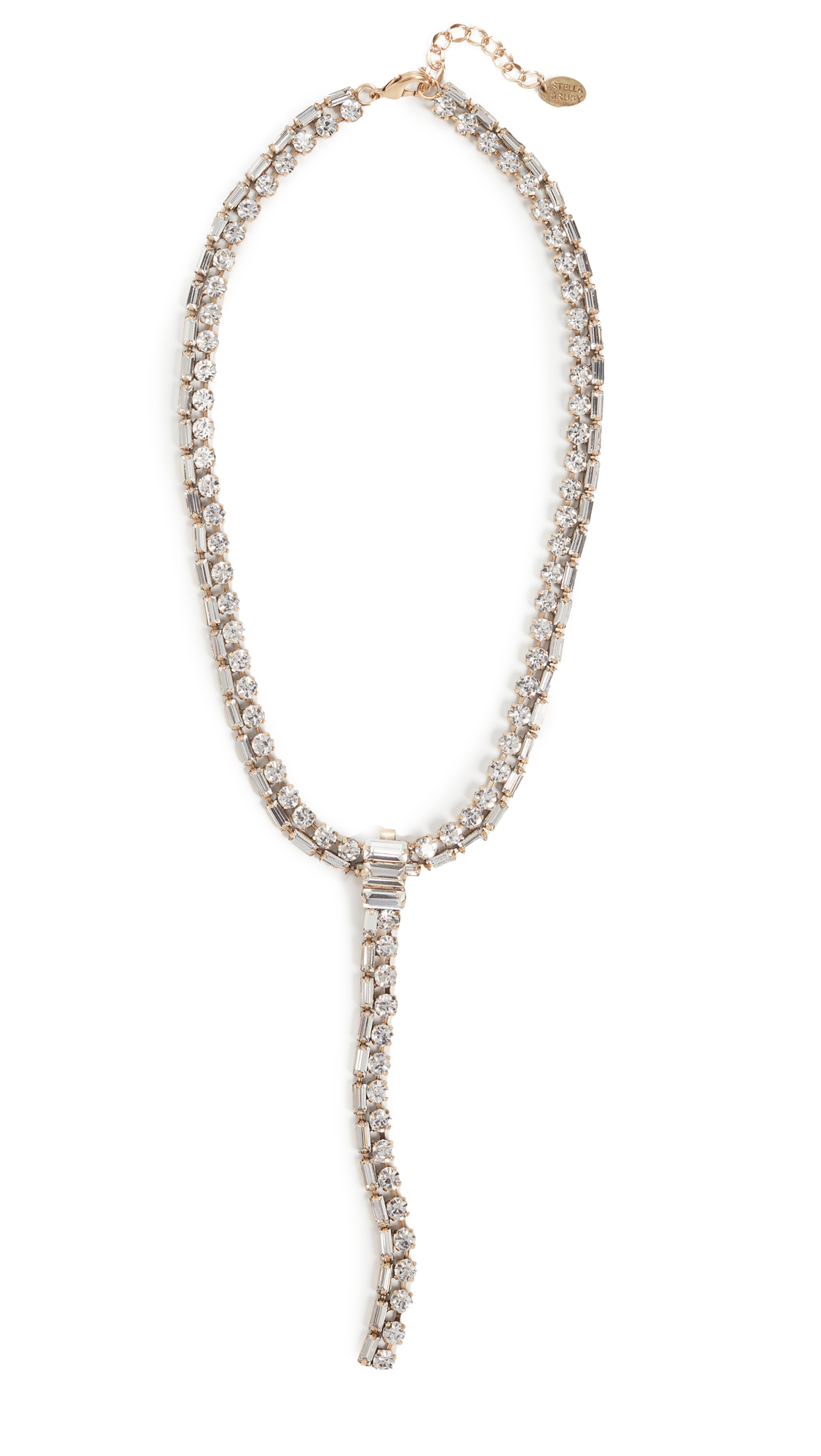 Stella + Ruby Crystal Lariat Necklace