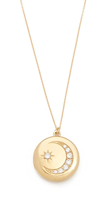 Sasha Samuel Moon and Star Locket Necklace