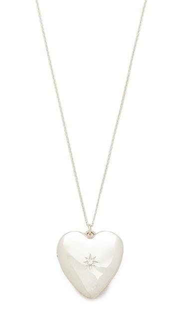 Sasha Samuel Single Star Heart Locket Necklace