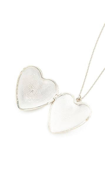 Sasha Samuel Single Star Heart Locket Necklace