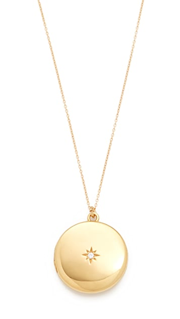 Sasha Samuel Single Star Round Locket Necklace