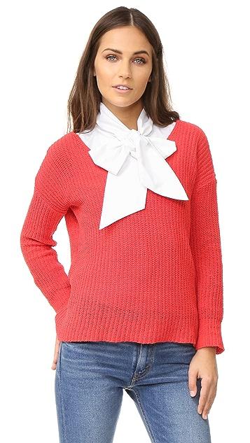 SKINNYSHIRT Bow Tie Collar Shirt