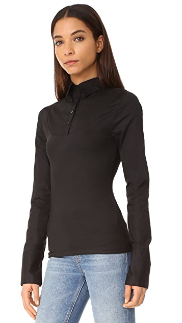 SKINNYSHIRT Nikki Long Sleeve Shirt - Black