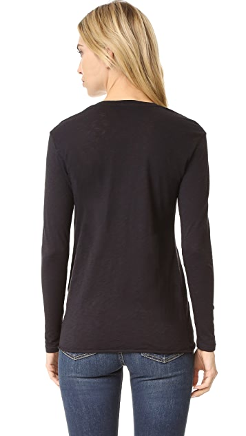 Stateside Twist Front Long Sleeve Tee