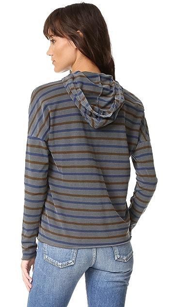 Stateside Long Sleeve Stripe Hoodie