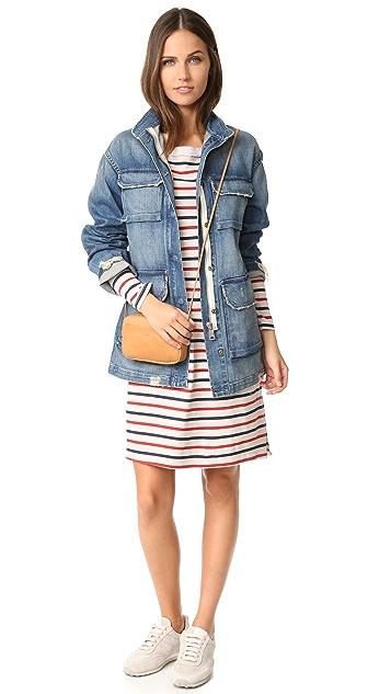 Stateside Long Sleeve Stripe Dress