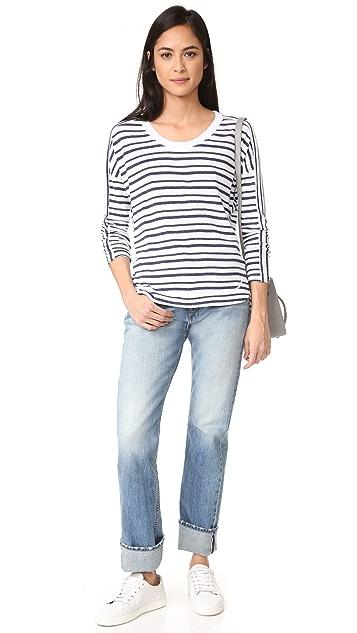 Stateside Long Sleeve Stripe Pullover