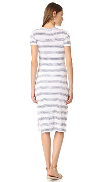 Stateside Short Sleeve Stripe Maxi Dress