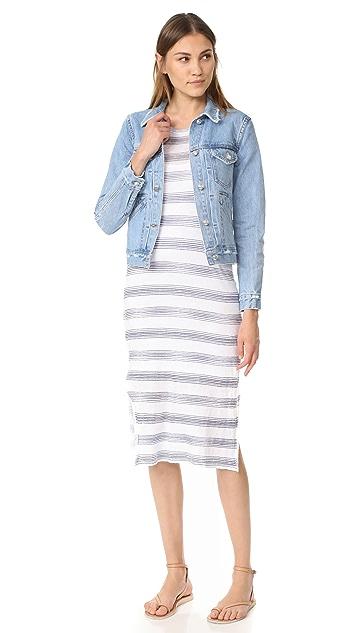 Stateside Short Sleeve Stripe Maxi Dress