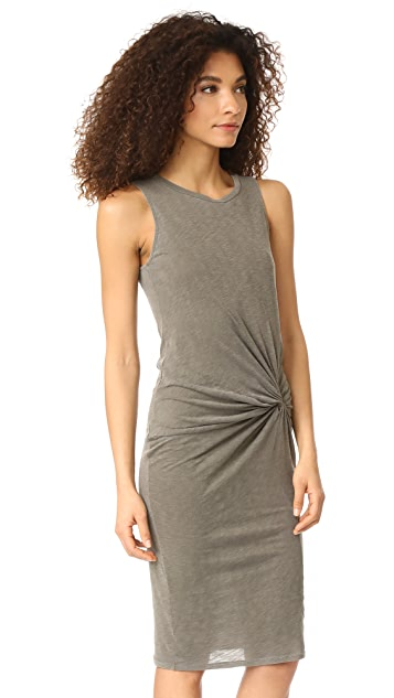 Stateside Slub Twisted Dress