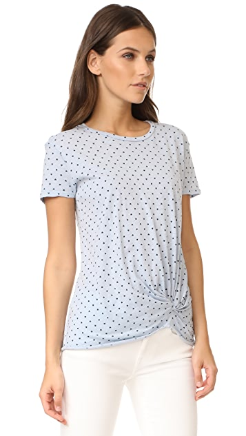Stateside Heart Print Twist Tee