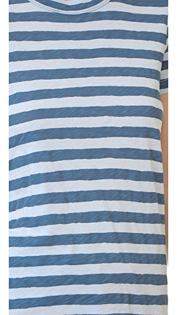 Stateside Supima Slub Striped Tee