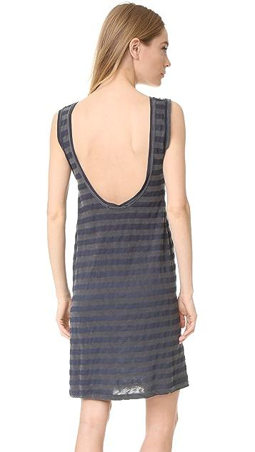 Stateside Supima Slub Striped Dress