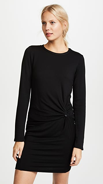 Stateside Side Knot Sweatshirt Dress