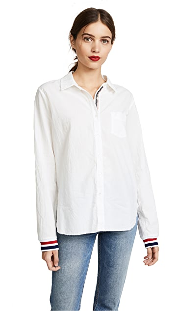 Stateside Statetrack Oxford Shirting Button Down Shirt