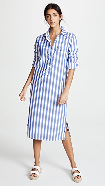 Stateside Oxford Button Down Dress