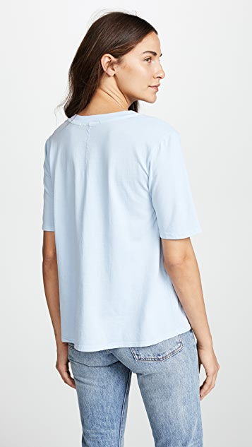 Stateside Brushed Jersey V Neck Tee