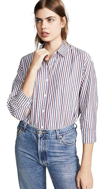 Stateside Рубашка Oxford на пуговицах в мужском стиле