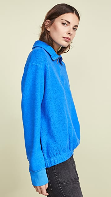 Stateside Sherpa Terry Half Zip Pullover