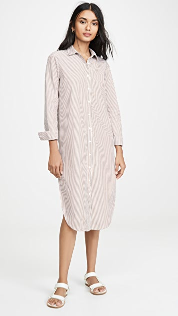 Stateside Poplin Stripe Shirting Dress