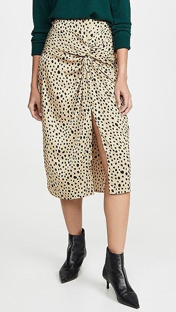Stateside Leopard Twist Skirt