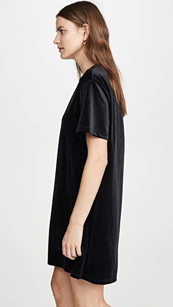 Stateside Velvet Tee Dress