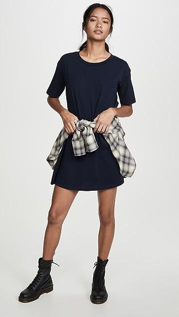 Stateside Supima 口袋 T 恤连衣裙