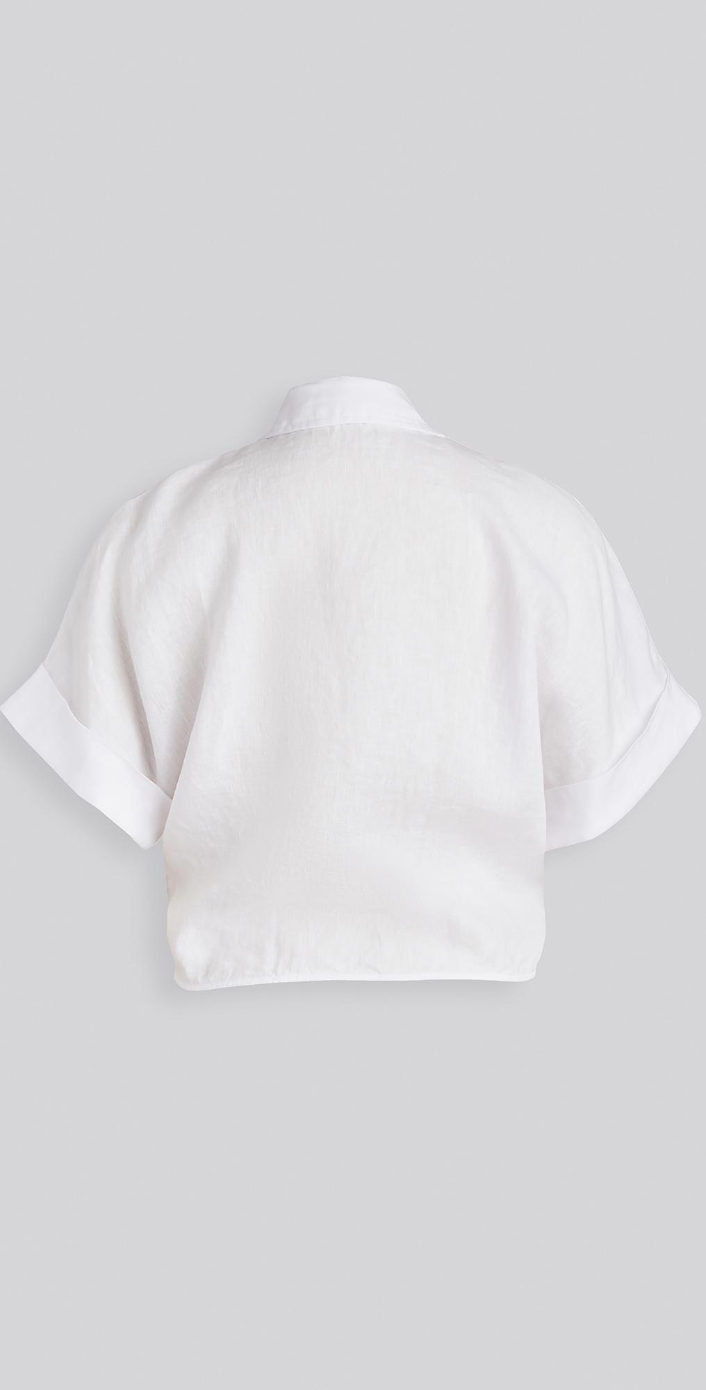Stateside Womens Linen Front Tie Top