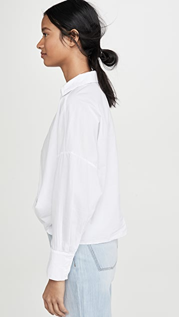 Stateside Poplin Twist Front Shirt