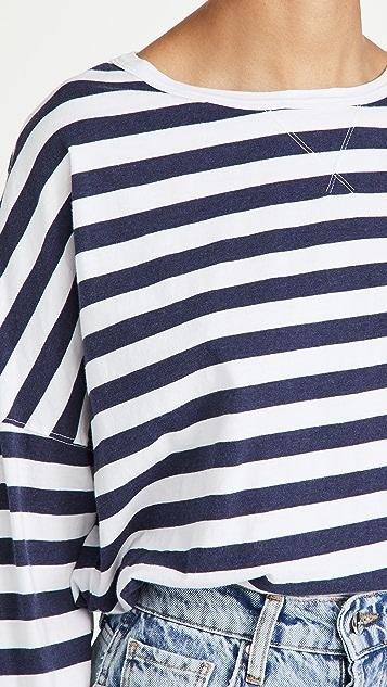 Stateside Stripe Sweatshirt Tee