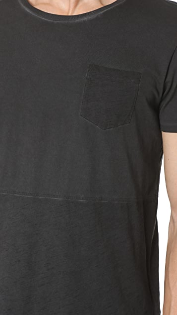 Scotch & Soda Oil Washed Pocket Tee