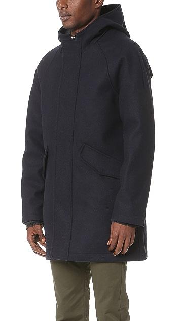 Scotch & Soda Long Hooded Coat