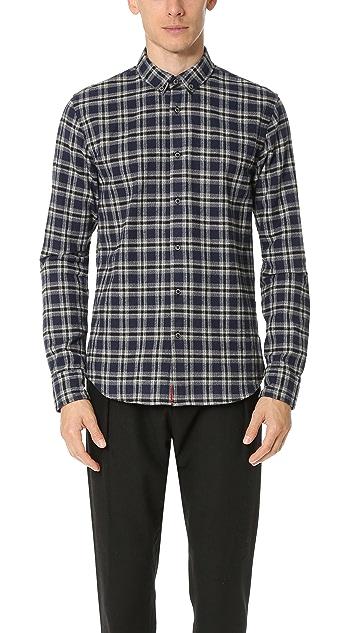 Scotch & Soda Brushed Cotton Linen Button Down Shirt