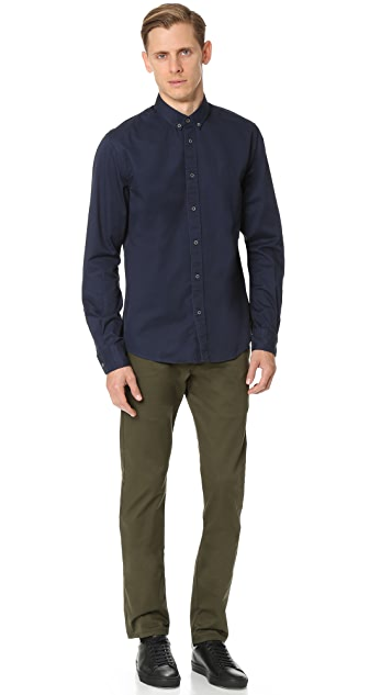 Scotch & Soda Washed Twill Button Down Shirt