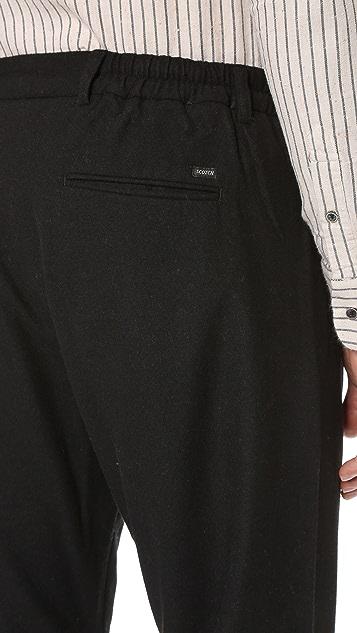 Scotch & Soda Pleated Wool Cuff Pants