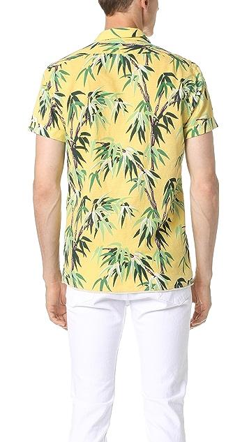 Scotch & Soda Short Sleeve Cotton Slub Shirt