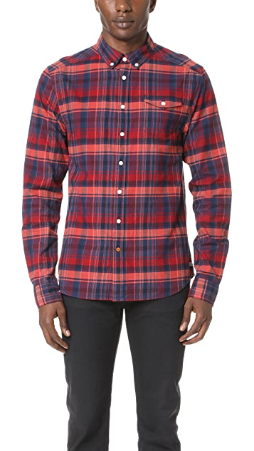 Scotch & Soda Lightweight Brushed Flannel Shirt