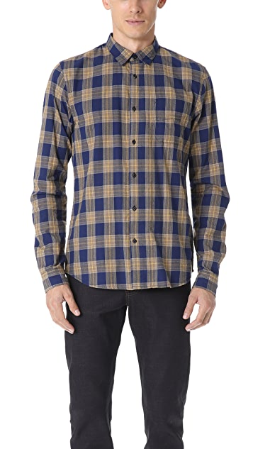 Scotch & Soda Plaid Long Sleeve Shirt