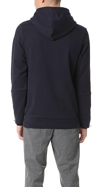 Scotch & Soda Hooded Sweatshirt with Side Panel